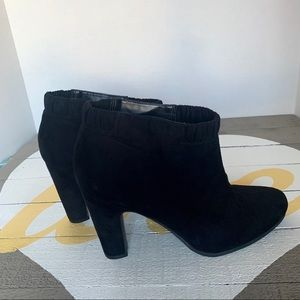 Sam & Libby black suede ankle boot